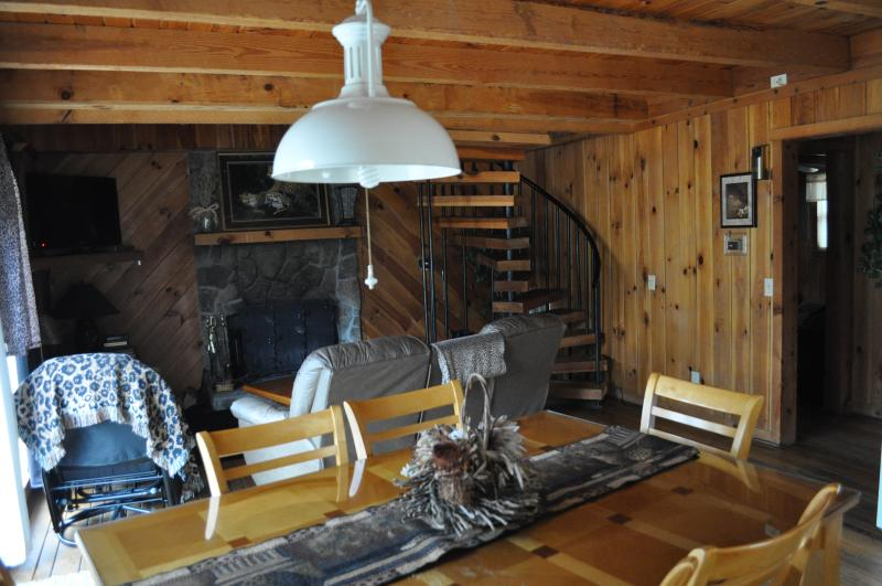 Living Room/Dinning in the Leopard cabin