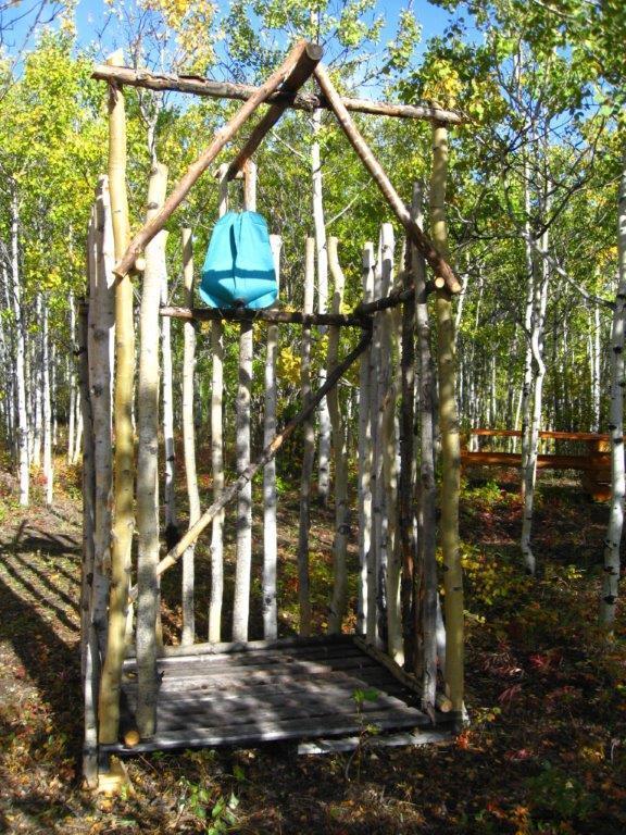 Sauna al aire libre junto a la sauna