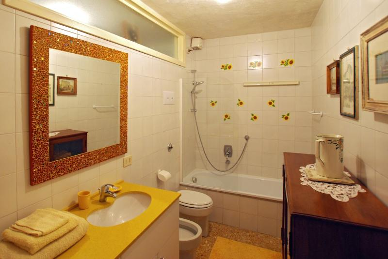 the main bathroom is at the ground floor, behind the kitchen