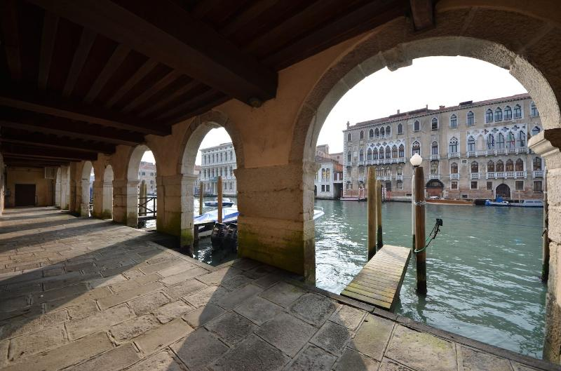 view from the gound floor communal entrance on the Grand Canal