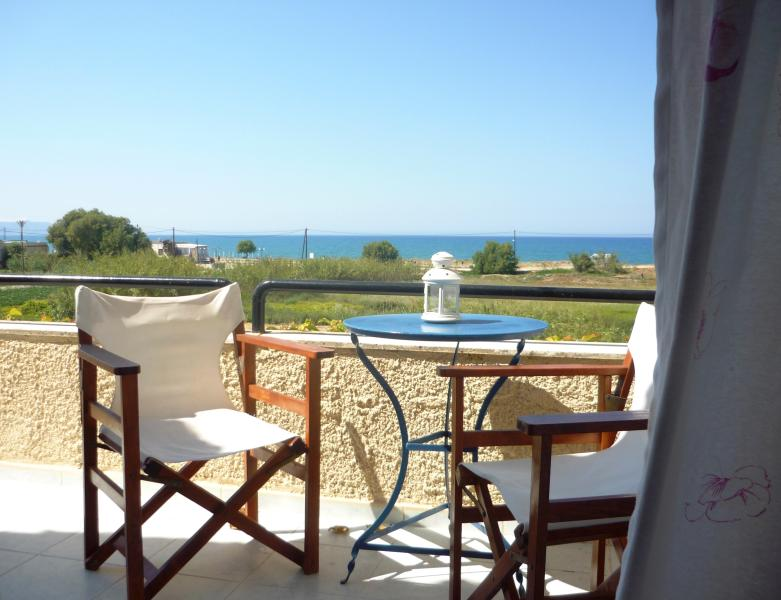 fully furnished balcony with sea view