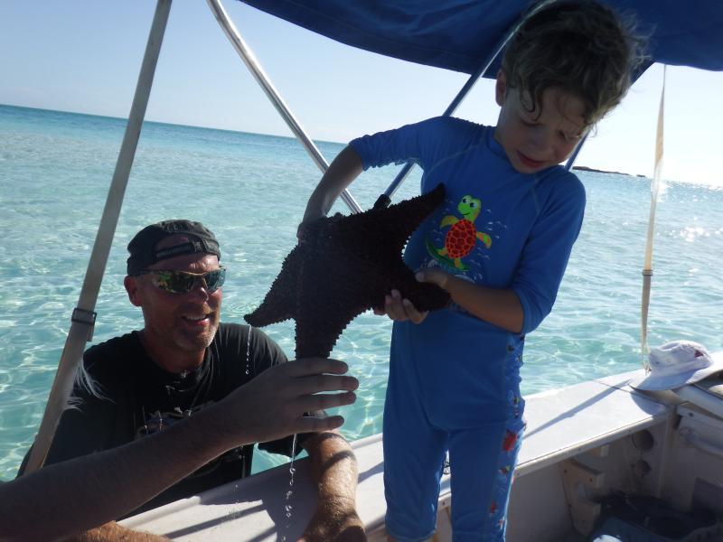 Encontrar peces estrella gigante, nuestro vecino, Mike, te mostrará donde...