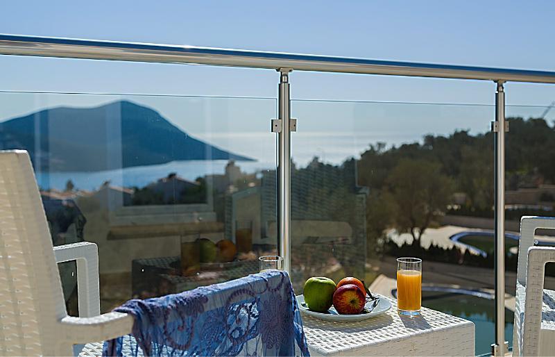 Sea views from the balcony
