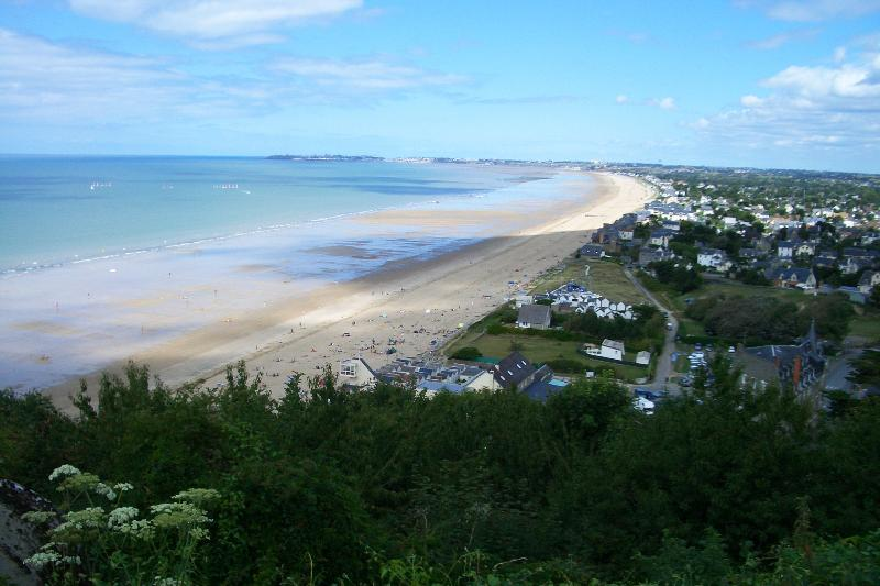 The best sandy beach for swimming is Carolles plage an hours drive away.