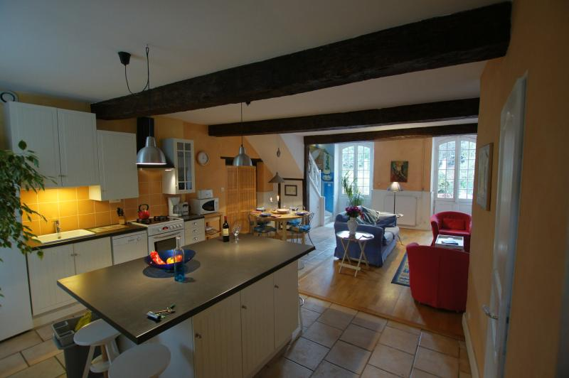 The kitchen/dinning/sitting room, view from front entrance