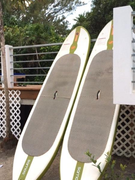 We rent paddle boards that you can launch from the dock