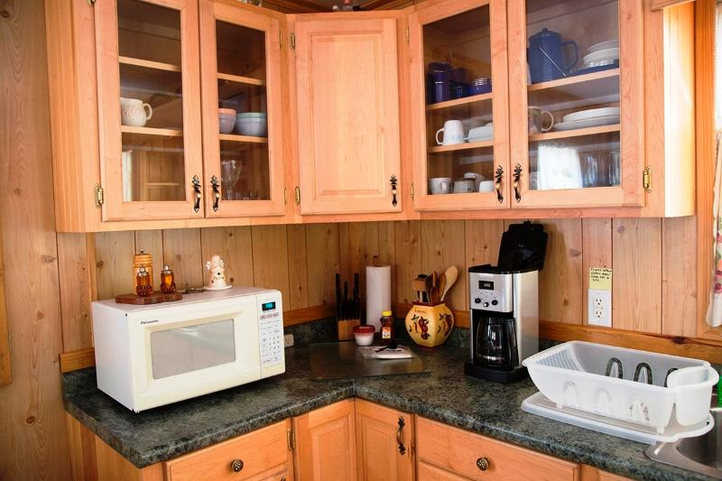 Kitchen counter & microwave