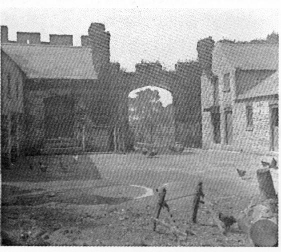 Access to the Ffarm Flat is via the old farm yard seen here in late 19th centuary