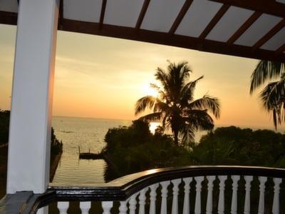 Balcony overlooking the lagoon Evening