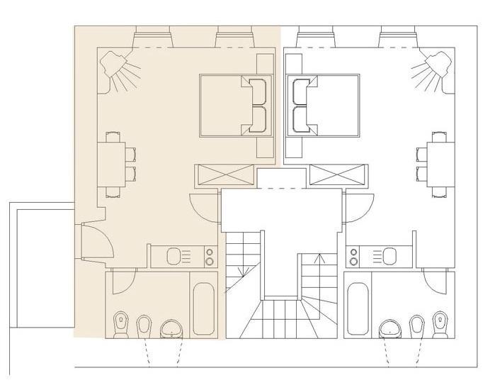 Villa Birimisa - primer piso tierra plan