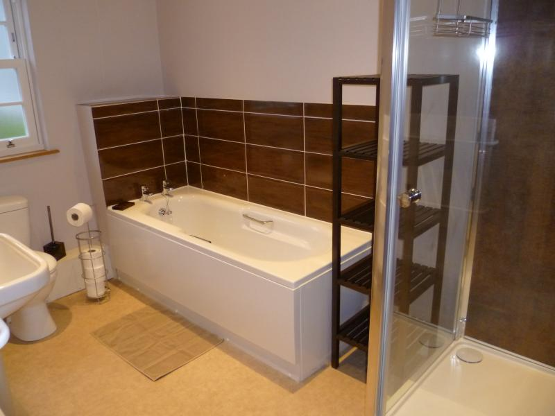 Ground floor ensuite with bath and walk in shower