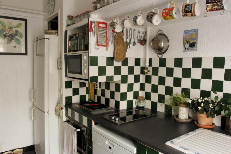 The retro kitchen...