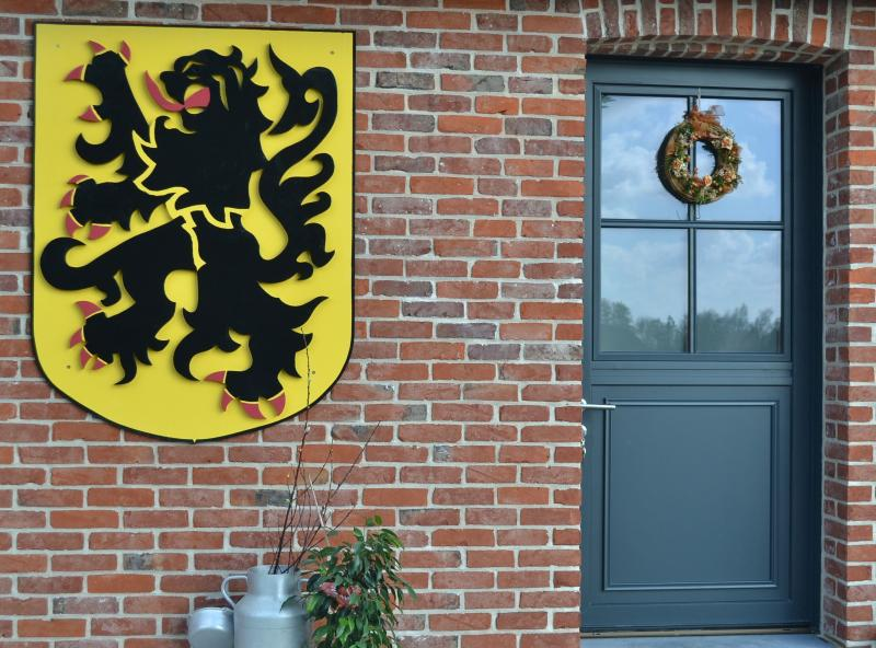 Front door of the cottage