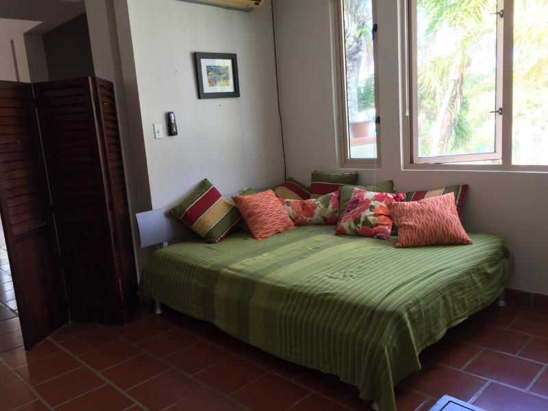 Sala Area connects with the living room with a queen size bed and a sofa for relax & sleep