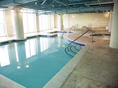 If you prefer the indoors, you will love this indoor pool.