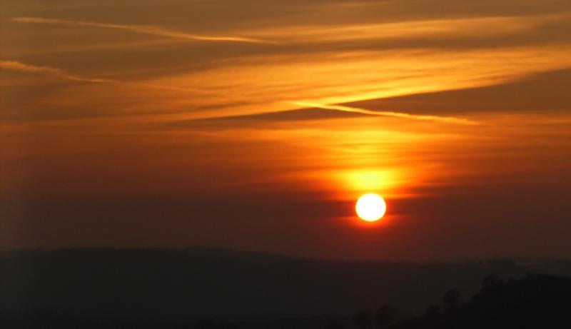Sunset over midwales from the terrace