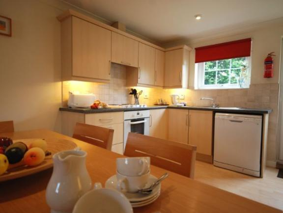 WELL EQUIPPED KITCHEN / DINING AREA  --   DISHWASHER,    OVEN + HOB,   MICROWAVE,  PLENTY OF UTENSIL