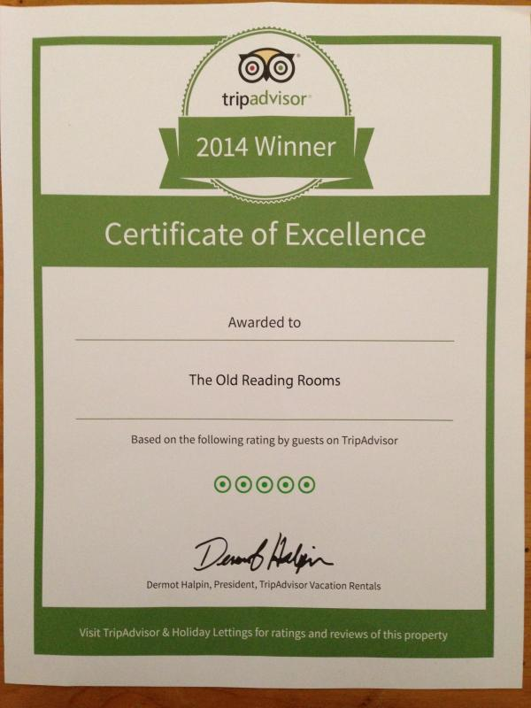 Thanks to our guests for awarding us a coveted Trip Advisor 5-Star award last season.