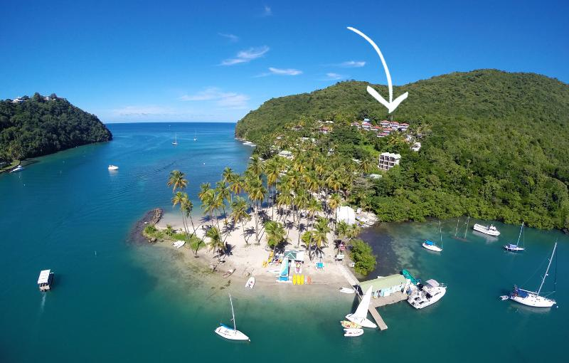 The Villa Community is Located Here in Marigot Bay...