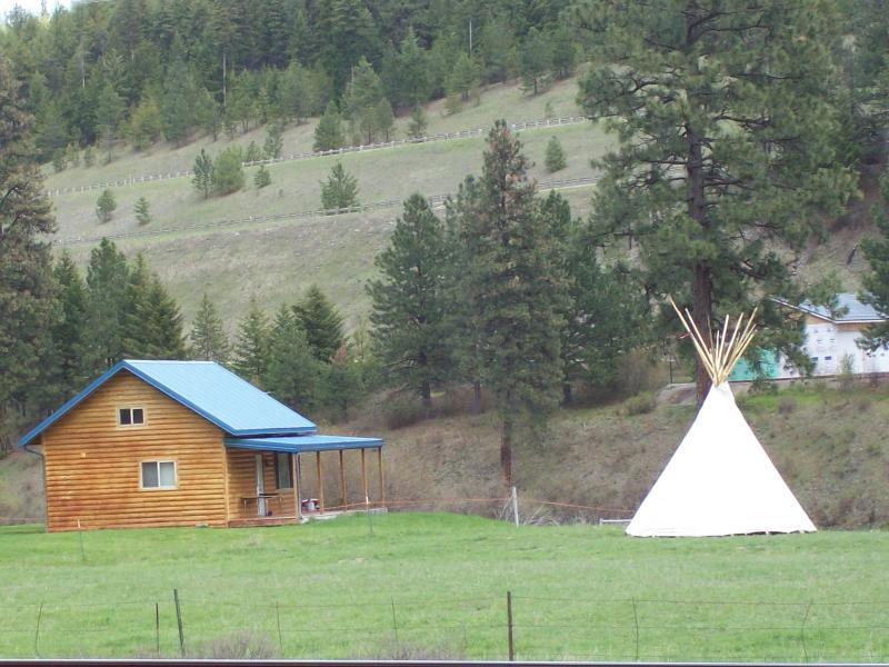 Cabin with Teepee