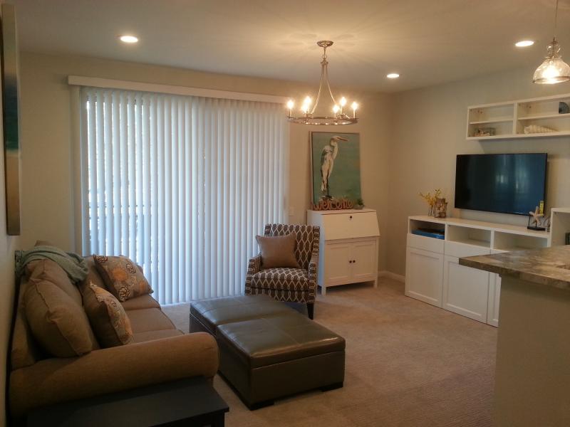 Living Room w/ work station & TV