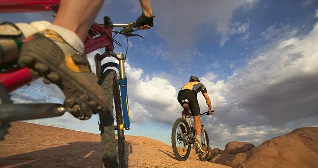 Mountain bikers love the variety of trails. Photo courtesy of DiscoverMoab site,