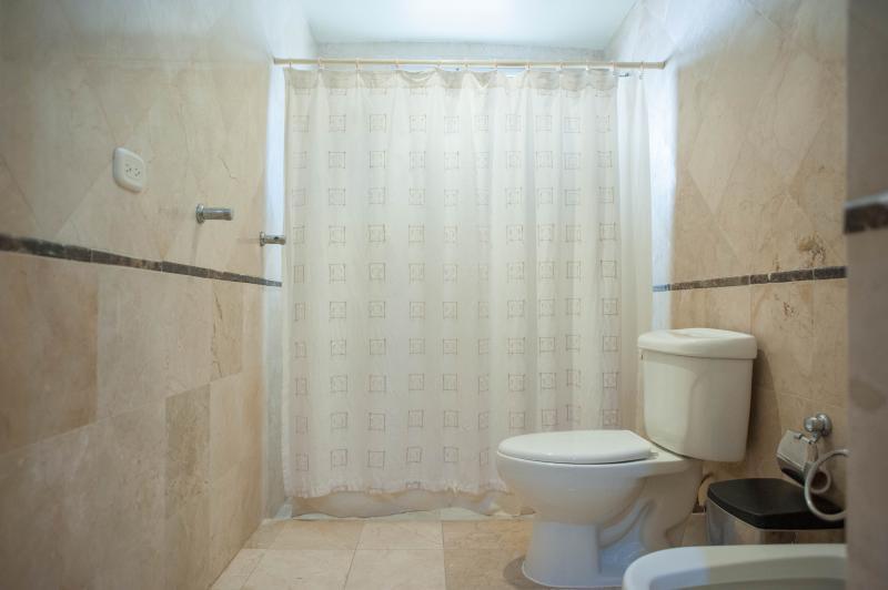 cuarto de baño privado con ducha y bidet
