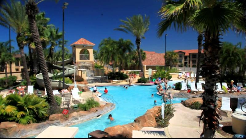 Main pool area with lazy river , '0' pool entry and water slide