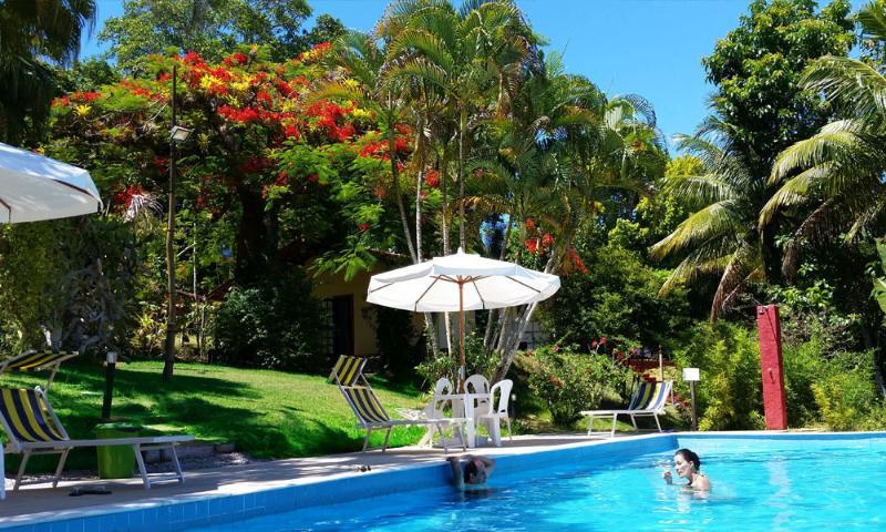 Chalet Yara in der Parkblick aus dem pool
