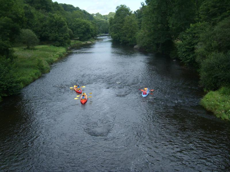 Enjoy canoeing on this beautiful river at Fressline