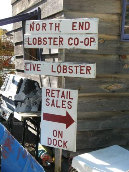 Island lobster co-op is walking distance-buy the day's catch right off the dock