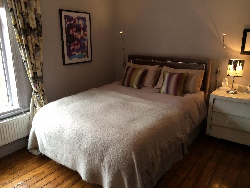 Bedroom 1 - King size bed, stylish decorated with high quality bed linen and ample storage