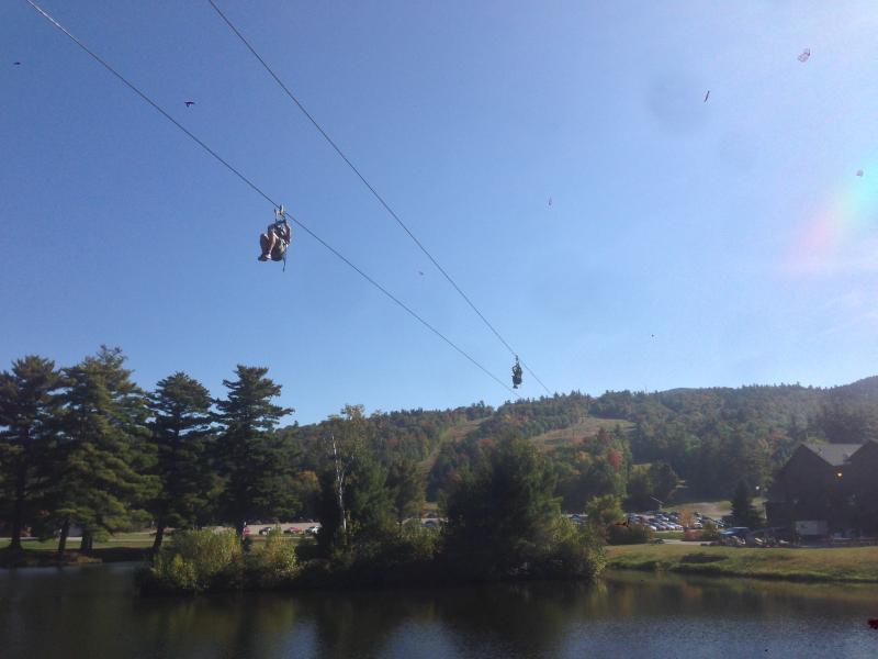 Try zip lining and ropes course at nearby Gunstock adventure center