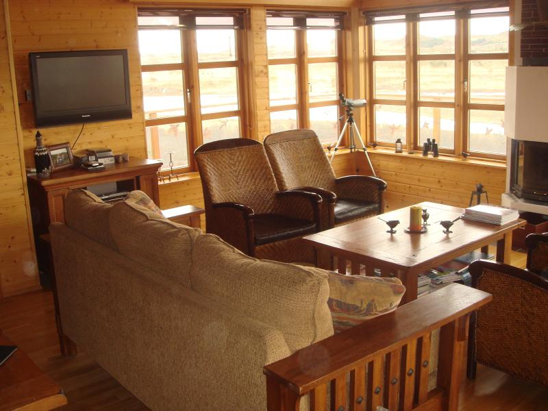 Luxorious lodge rental near Borgarnes, vakantiewoning in Hraunfossar