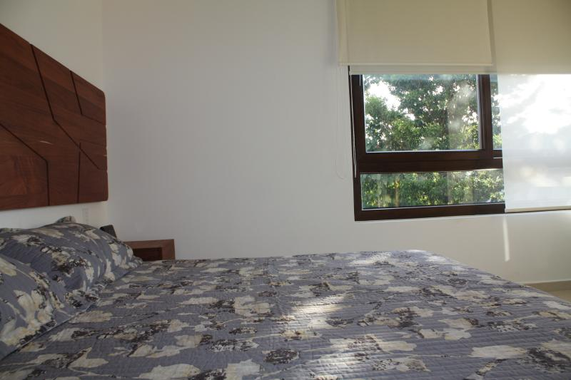 Master bedroom with orthopedic super king bed