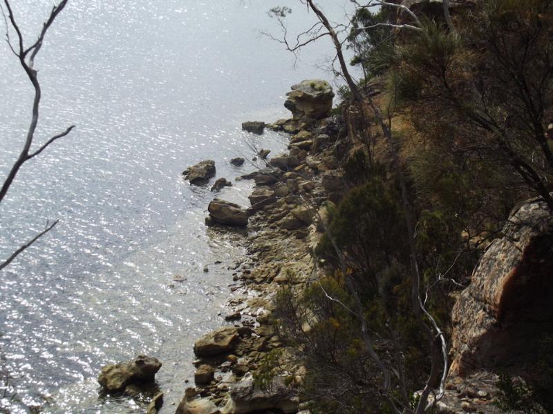 Vista de acantilados Coningham caminando por sendero