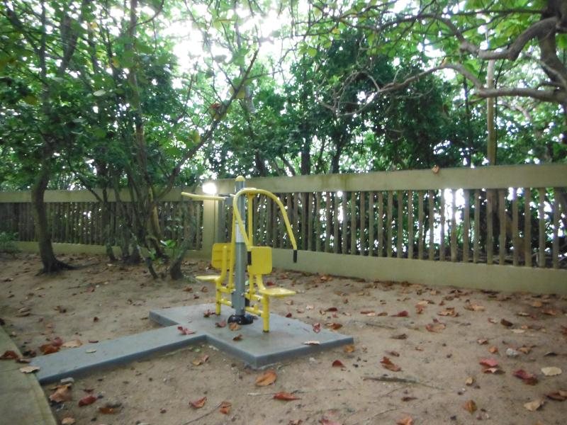 One of the outdoors fitness stations