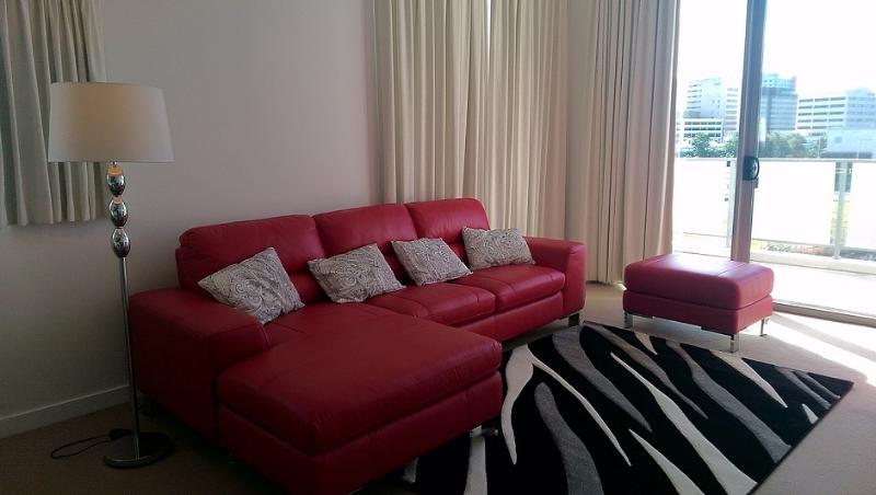 Lounge med högt i tak