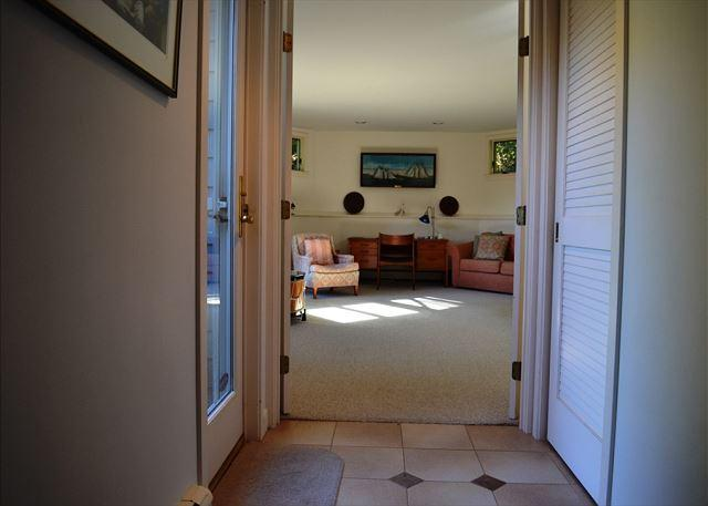 Hallway from Kitchen to the octagonal living room.