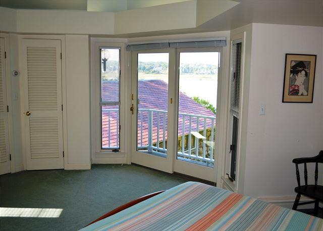 Master Bedroom above second living room in new addition.