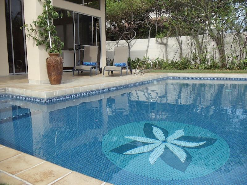 Beautiful, tiled, sparkling, salt pool!