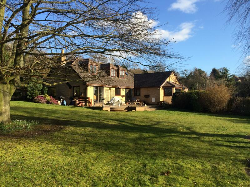 Set in a large private Garden and 12 acres of land