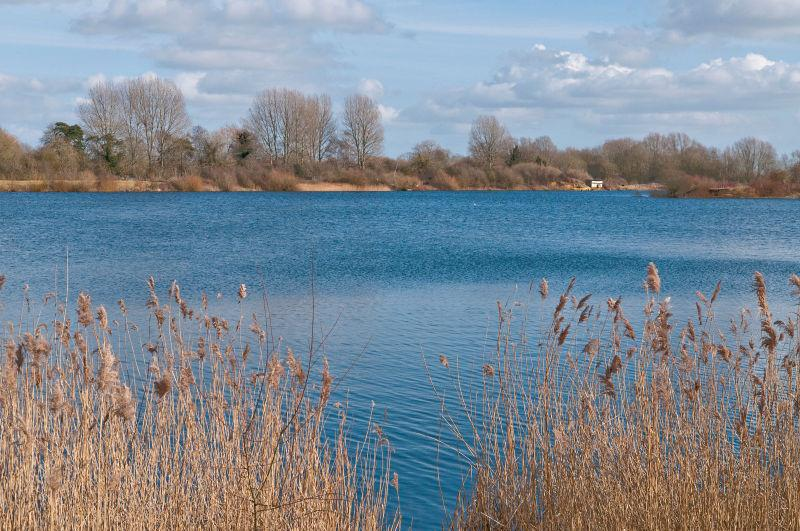 Uninterrupted views across the Somerford Lagoon - The largest lake on the Lower Mill Estate