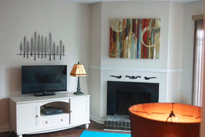 Living room (fireplace and tv).