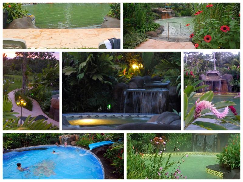 4 Natural Mineral Hot Springs Pools & Fresh Water Pool with Bullet Waterslide