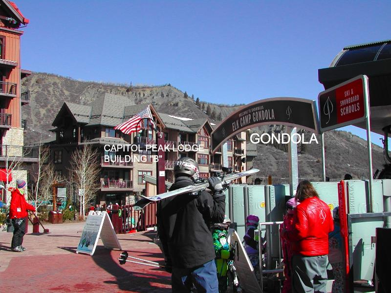 Photo from Gondola with our Capitol Peak Building in background