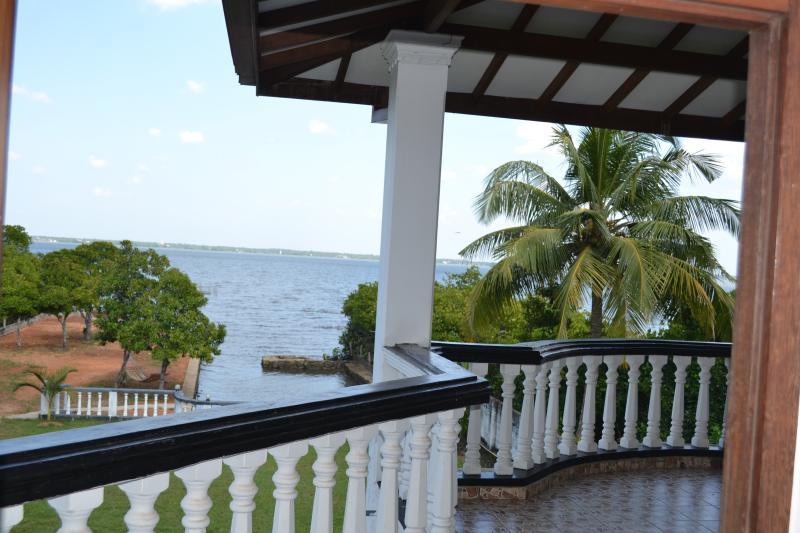 Balcony overlooking the lagoon