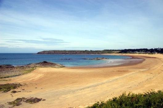 One of many local sandy beaches - La Guimorais