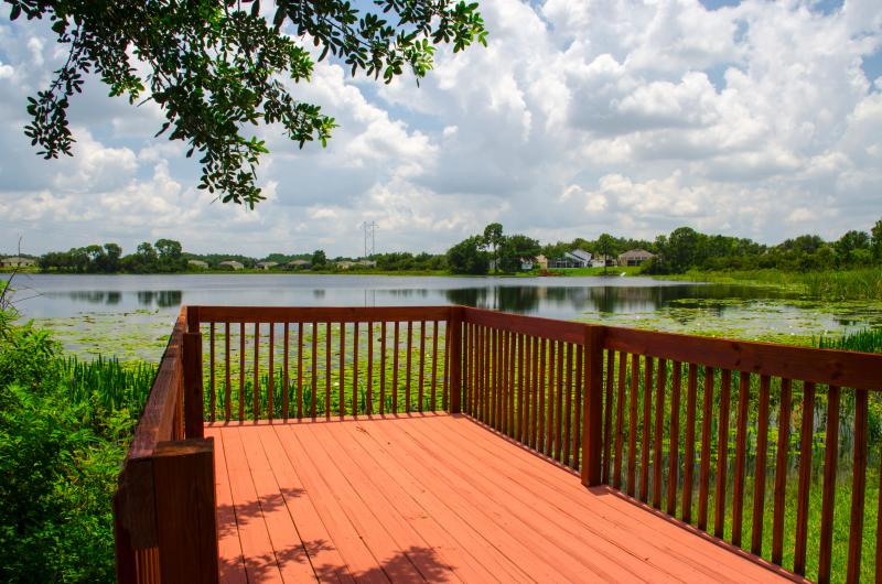 Our private deck overlooking the Lake is ideal for fishing or just enjoying the view