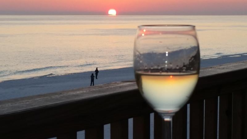 Summer Along Miramar Beach Sanddollar Townhomes Sowal Enjoy A Nice Gl Of Wine At Sunset